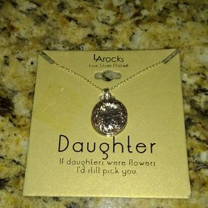"LARocks Fine Silver Plated ""Daughter"" Necklace"